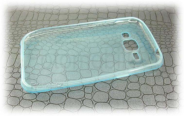 Modré tenké průhledné silikonové pouzdro pro Samsung J100 Galaxy J1 9f522f09930