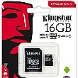 microSDHC 16GB Kingston Class 10 w / a (EU Blister)