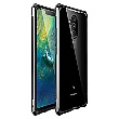 Luphie King of Snaps Magnetic Aluminium Bumper pouzdro Glass Black pro Huawei Mate 20 Lite