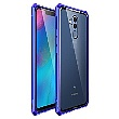 Luphie King of Snaps Magnetic Aluminium Bumper pouzdro Glass Blue pro Huawei Mate 20 Lite