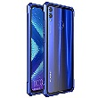 Luphie King of Snaps Magnetic Aluminium Bumper pouzdro Glass Blue pro Honor 8X