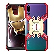 Luphie Heroes Rotation Aluminium Bumper pouzdro Red / GOLD zlatá barva pro Huawei P20 Pro
