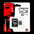 microSDHC 16GB Kingston Class 4 w / a (EU Blister)